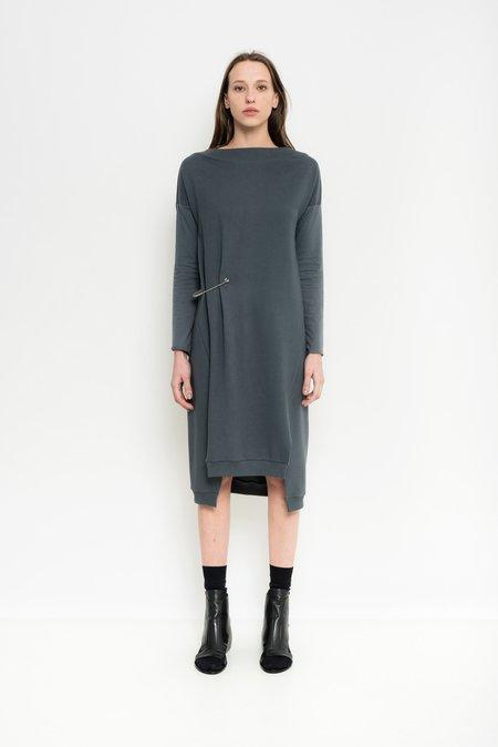 Uma Raquel Davidowicz Organic Cotton Sweater Dress Brunei - titanium
