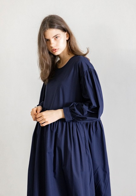 TIGRE ET TIGRE JAYME DRESS - NAVY POPLIN