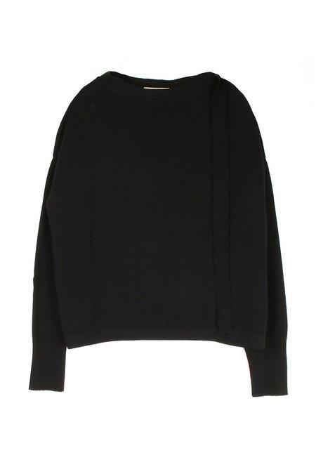 Ma'ry'ya Boxy Knit W/ Ribbon - Black