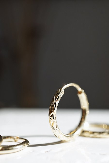 Foe and dear Florence Hoops - 10k Yellow Gold