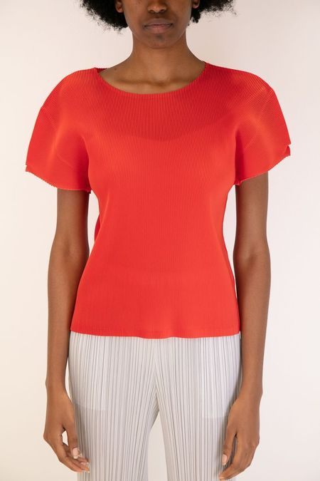 Issey Miyake Pleats Please April Mist Top - Red