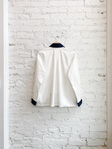 Dear Miler Blocked Pocket Shirt - White/Orange