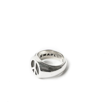 MAPLE PEACE RING - SILVER