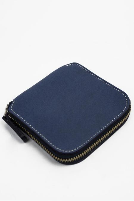 Le Bas Square Zip Wallet - Royal Blue/Natural