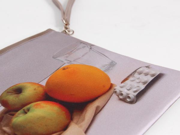 A'N'D Still Life Clutch - Fruits & Pill