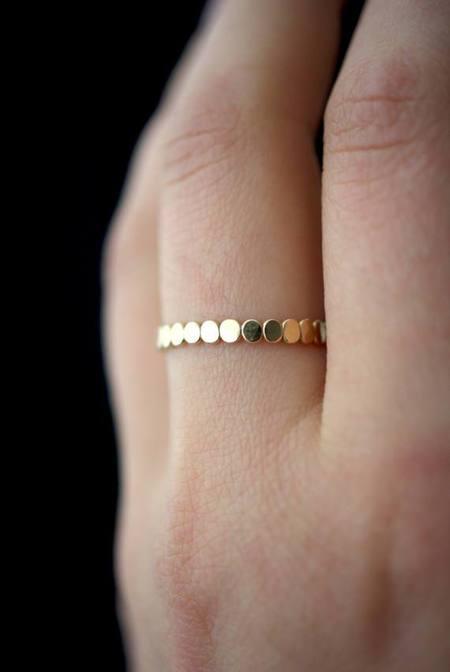 Hannah Naomi Thick Bead Stacking Ring - Silver