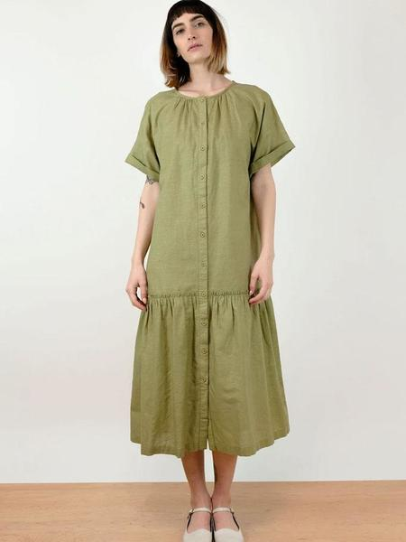Micaela Greg Cleo Dress - Fern