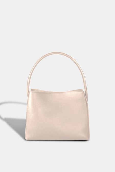 Modern Weaving Petite Arch Handle Pleat Tote - Putty