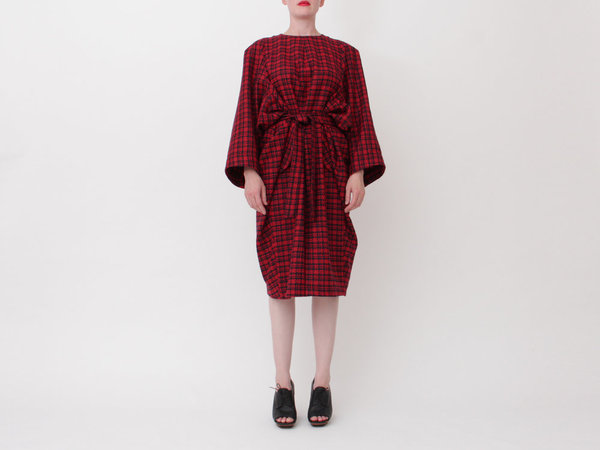 ANNTIAN Shapy Dress - Plaid
