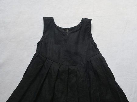 Kids Makié Lulu Linen Dress - Black