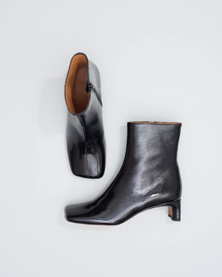 LOQ Monica BOOTS - Black Crinkle Patent