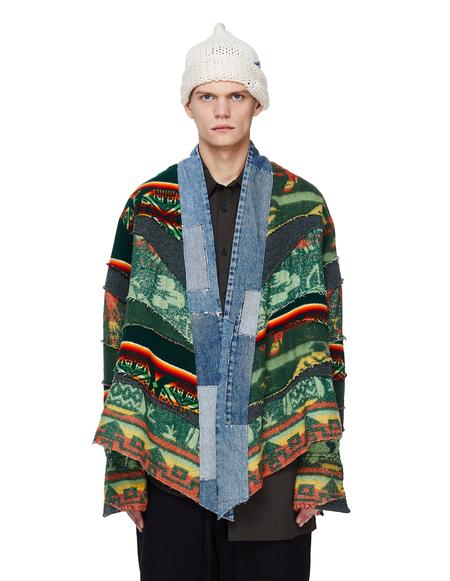 Greg Lauren Vintage Blanket Scrapwork Kimono