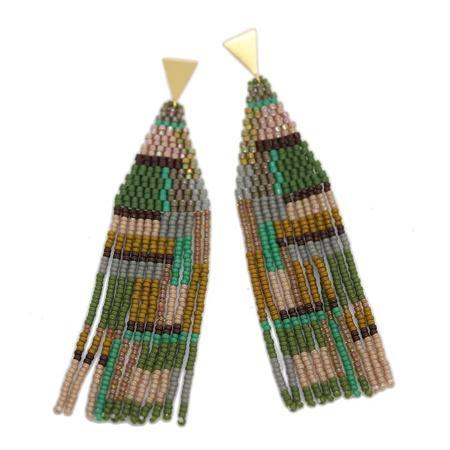 Bluma Project Destry Earrings in Basil - Gold Plate / Glass