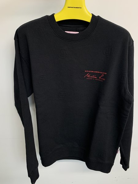 Martine Rose R Jacquard Jersey Classic Crew Sweatshirt - Black
