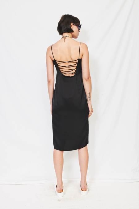 WNDERKAMMER Lace-Up Slip Dress