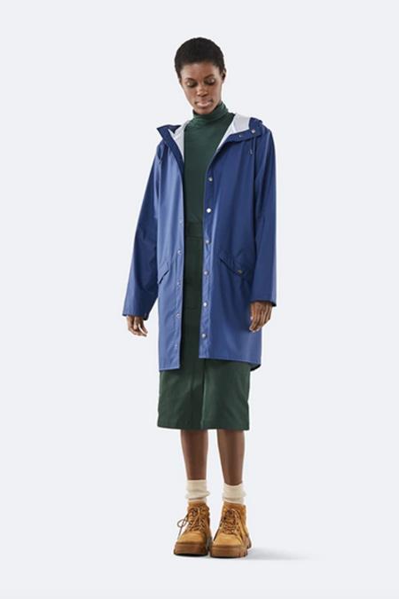 Rains Long Jacket - Klein Blue