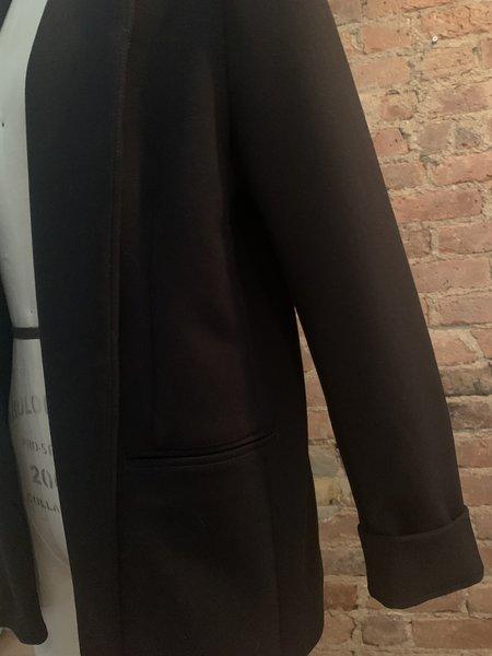 ARIELLE Deadstock Madonna Fabric Open Blazer - Black