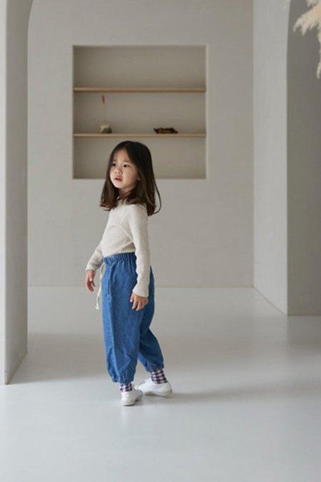 Kids Korean Collective DENIM JOGGERS - INDIGO