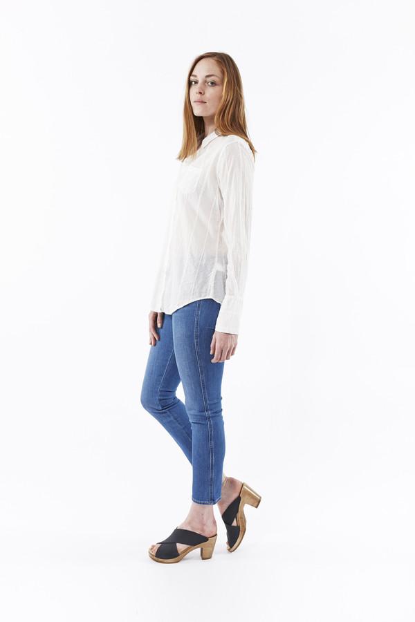 Nili Lotan Embroidered Stripe Shirt in White