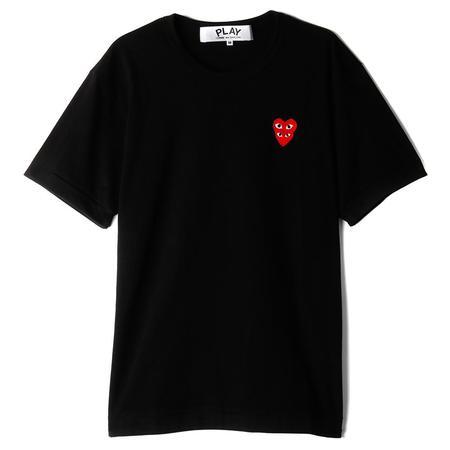 Comme Des Garcons Play Double Heart T-shirt - Black