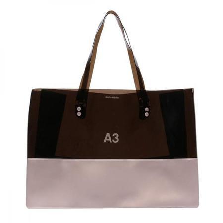nana-nana Opaque A3 Bag - Black/Light Pink