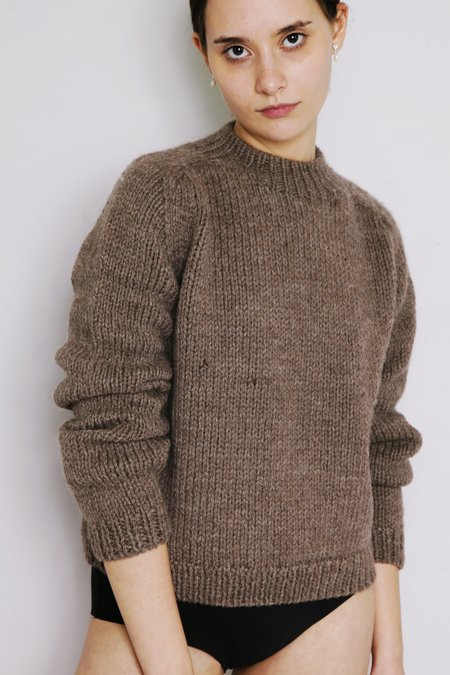 OUND HAND KNITTED MOLLE WOOL JUMPER - CUB