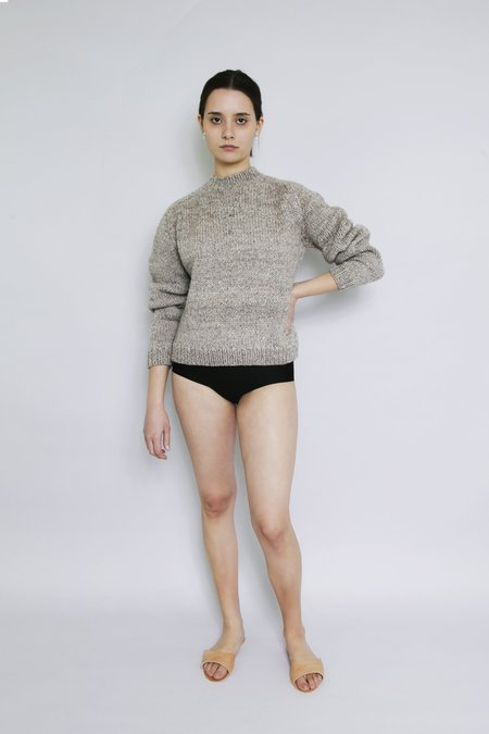 OUND HAND KNITTED MOLLE WOOL JUMPER - STONE