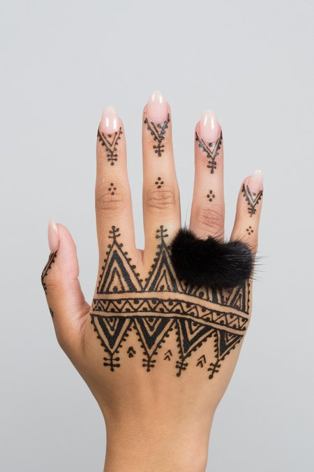 Feswa MINK RING PENDANT - BLACK