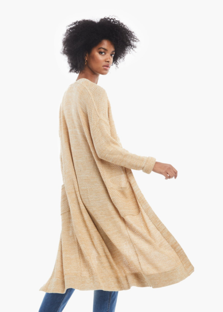 ABLE Neva long cardigan - beige
