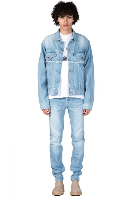Christian Dada Denim Akari Print Jacket - Blue