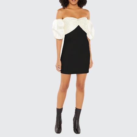 Cinq A Sept Teagan Dress - BLACK / IVORY