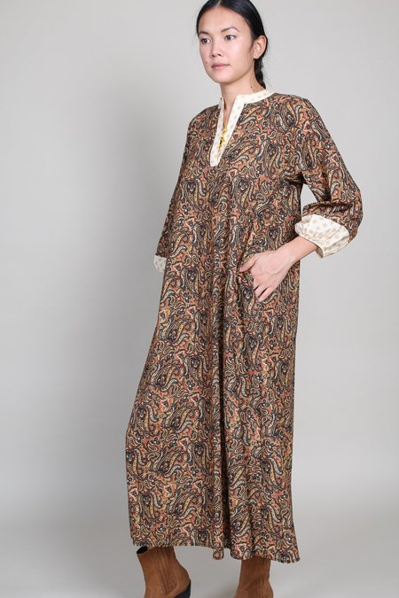 Warm Love Nomad Dress - Rust Multi