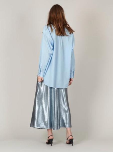 INDRESS Oversized Cotton Shirt - Sky