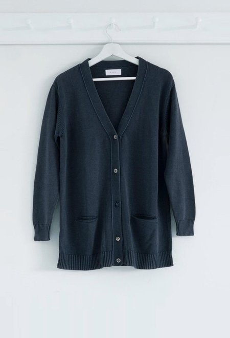 Karu Weighty Cotton Cardigan With Ceramic Buttons