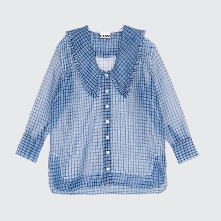 Ganni Oversized Organza Shirt - Heather