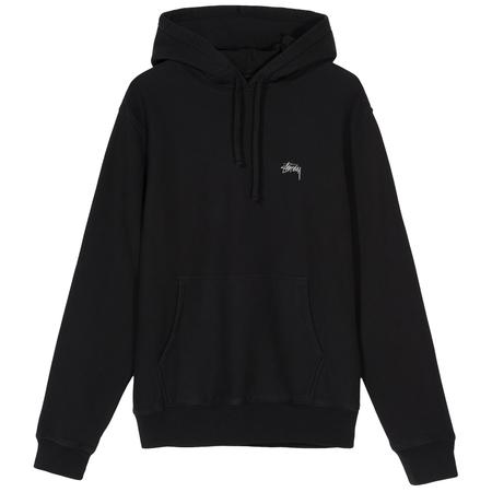 stussy logo hoodie - Black