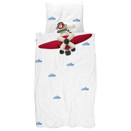 Snurk Airplane Monkey Duvet Cover Set