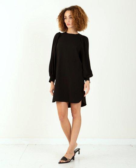 Ganni Heavy Crepe Dress - Black