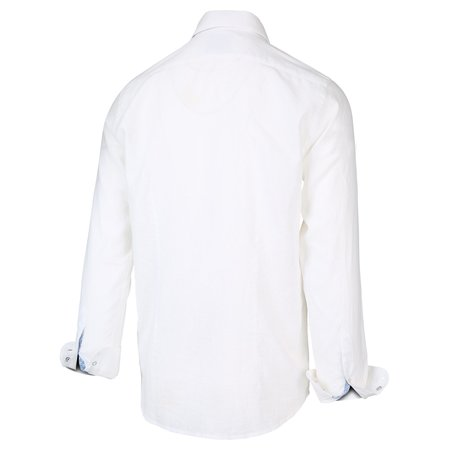 BLUE INDUSTRY BUTTON UP - WHITE