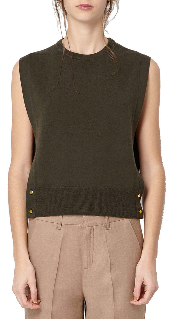 Hoss Intropia Wrap Button Vest