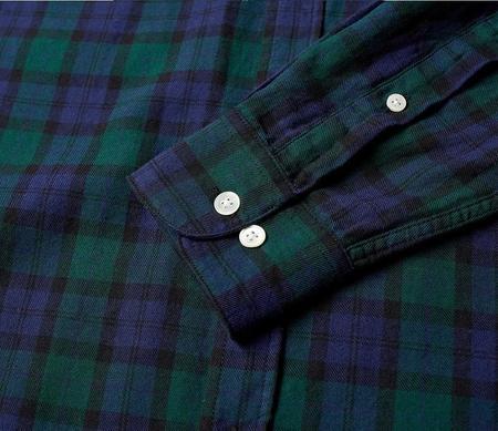 Portuguese Flannel BONFIM TOP - GREEN/BLUE