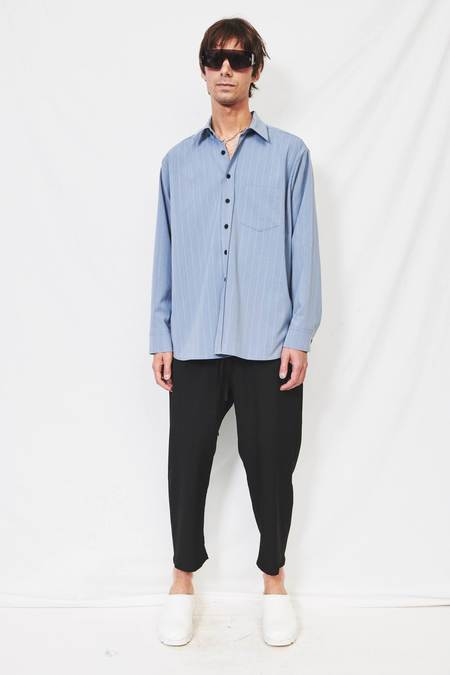Assembly Longsleeve Button-Up - Chambray Stripe
