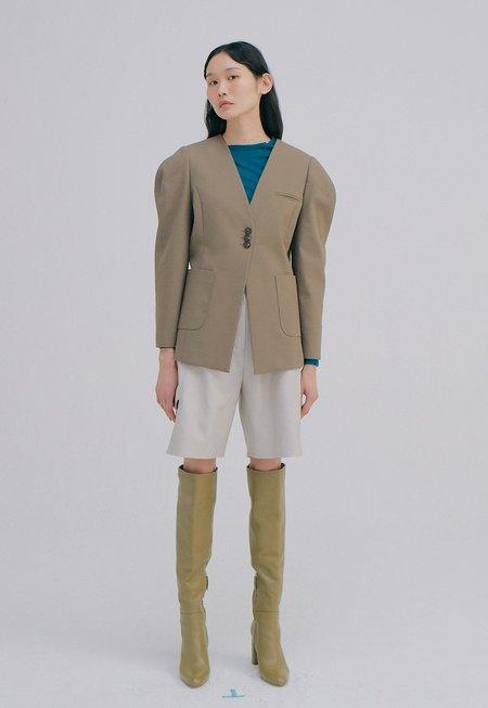 WNDERKAMMER Curved Sleeves Jacket - Khaki Brown