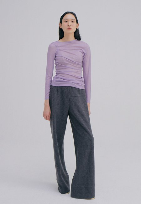 WNDERKAMMER Unbalance Waist Trousers - Charcoal