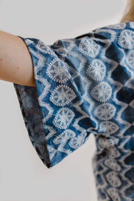 m e ç l â Nina Dress in Embroidered Tie-dye - BLUE