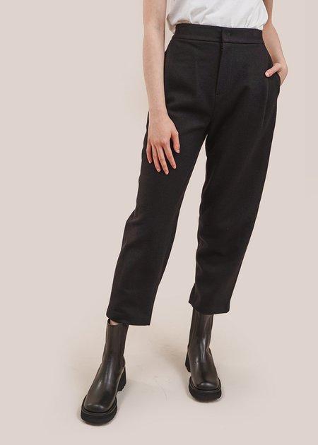 AMOMENTO Garconne Wool Pants - Black