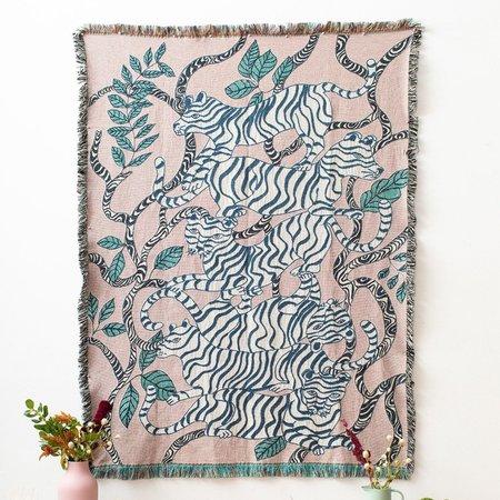 Olivia Wendel Tigers Blanket - Lavender