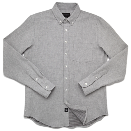 S-OUTCLASS DOUBLE SIDED FLANNEL L/S shirt - grey