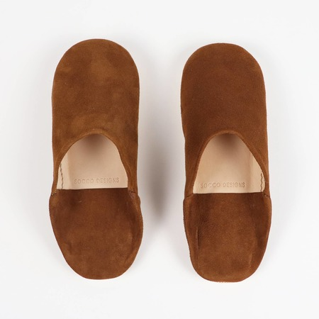 SOCCO SUEDE Moroccan Babouche Slippers - CAMEL
