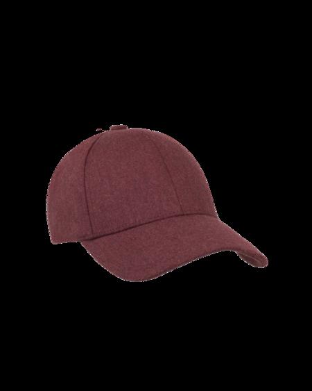 UNISEX Varsity Headwear Wool Cap - Maroon Red